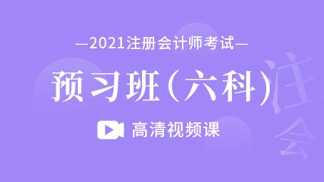 2021年注册会计师-预习班